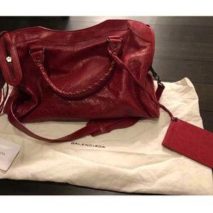 Balenciaga classic city bag - ruby red